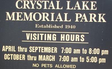 Crystal Lake sign
